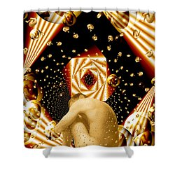 Embryonic Voyage Shower Curtain by Kurt Van Wagner