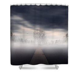 Emergence Shower Curtain by Lourry Legarde