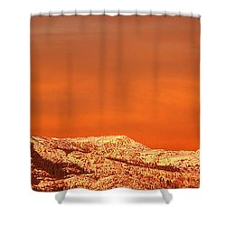 Emigrant Gap Shower Curtain by Bill Gallagher