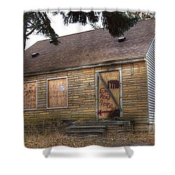 Eminem's Childhood Home Taken On November 11 2013 Shower Curtain by Nicholas  Grunas