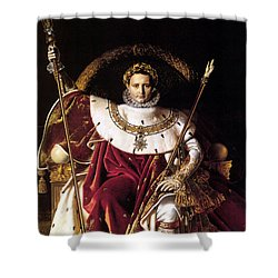 Emperor Napoleon I On His Imperial Throne Shower Curtain by War Is Hell Store
