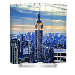 Empire State Building New York City Usa Shower Curtain by Sabine Jacobs