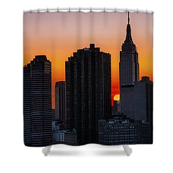 Empire State Building Sunset Shower Curtain by Susan Candelario