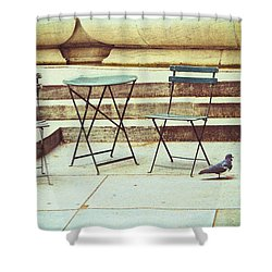 Empty Shower Curtain by Karol Livote