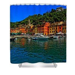 Enchanting Portofino In Ligure Italy I Shower Curtain by M Bleichner