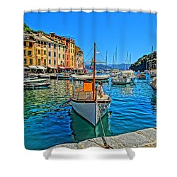 Enchanting Portofino In Ligure Italy Iv Shower Curtain by M Bleichner