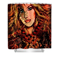 Enchanting Woman Shower Curtain by Natalie Holland