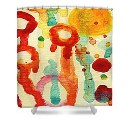 Encounters 7 Shower Curtain by Amy Vangsgard