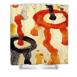 Encounters 8 Shower Curtain by Amy Vangsgard