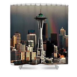End Of The Rainbow Shower Curtain by Benjamin Yeager