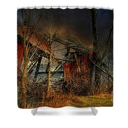 End Times Shower Curtain by Lois Bryan