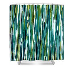 Energy Rises Shower Curtain by Lourry Legarde