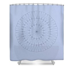 Energy Wave 20 Degree Frequency Shower Curtain by Jason Padgett