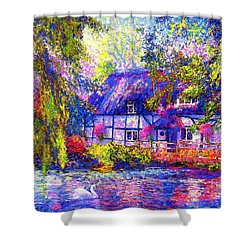 English Cottage Shower Curtain by Jane Small
