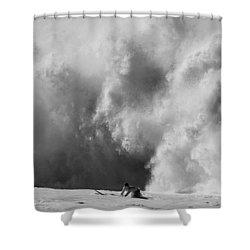 Engulfed Shower Curtain by Sean Davey