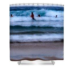 enjoy the ocean I Shower Curtain by Hannes Cmarits