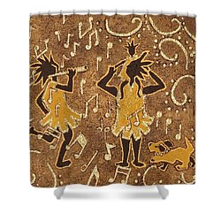Enjoying The Music Shower Curtain by Katherine Young-Beck