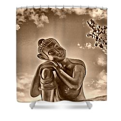 Enlightenment 2 Shower Curtain by Cheryl Young