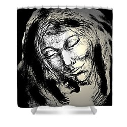 Enlightenment Shower Curtain by Natalie Holland