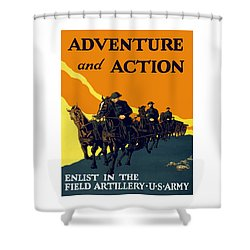 Enlist In The Field Artillery Shower Curtain by War Is Hell Store