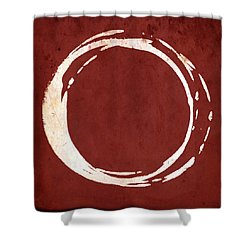 Enso No. 107 Red Shower Curtain by Julie Niemela