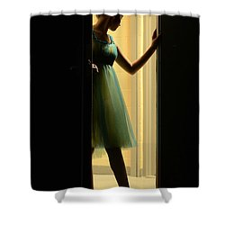 Enter Upon This Stage Shower Curtain by Laura Fasulo