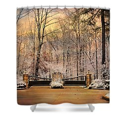 Entrance To Winter Shower Curtain by Jai Johnson