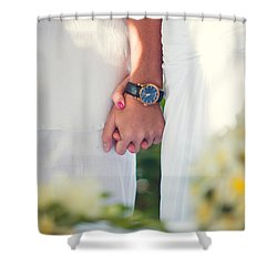 Entrusting Myself To You  Shower Curtain by Jenny Rainbow