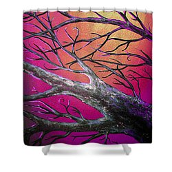 Epic Eclipse Panel 3 Shower Curtain by Teshia Art