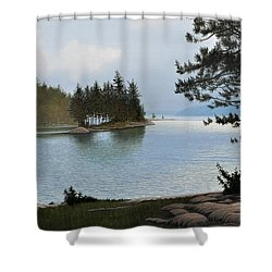 Equanimity Shower Curtain by Kenneth M  Kirsch