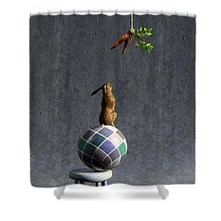 Equilibrium II Shower Curtain by Cynthia Decker