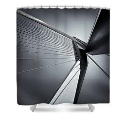 Erasmusbrug Shower Curtain by Dave Bowman