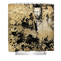 Eric Clapton 3 Shower Curtain by Bekim Art