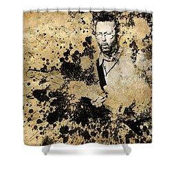 Eric Clapton 3 Shower Curtain by Bekim Art