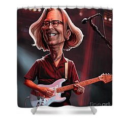 Eric Clapton Shower Curtain by Andre Koekemoer