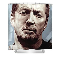 Eric Clapton Artwork Shower Curtain by Sheraz A