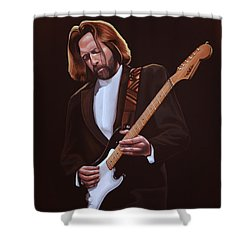 Eric Clapton Painting Shower Curtain by Paul Meijering