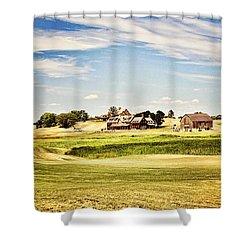 Erin Hills Shower Curtain by Scott Pellegrin