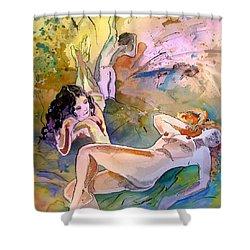 Eroscape 1201 Shower Curtain by Miki De Goodaboom