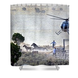 Escape From Butte Valley Trapsite Triple B Shower Curtain by Afroditi Katsikis
