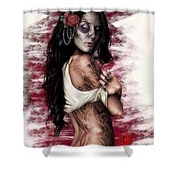 Esperanza Viva Shower Curtain by Pete Tapang