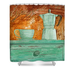 Espresso Shower Curtain by Guido Borelli