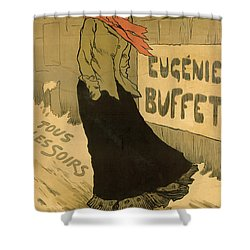 Eugenie Buffet Poster Shower Curtain by Lucien Metivet