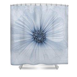 Evanescent Cyanotype Shower Curtain by John Edwards