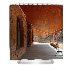 Shower Curtain featuring the photograph Evans Porch by Bill Gabbert