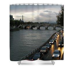 Evening On Pont Au Change  Shower Curtain by Joe Schofield