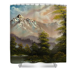 Evenings Glow Shower Curtain by C Steele