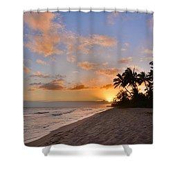 Ewa Beach Sunset 2 - Oahu Hawaii Shower Curtain by Brian Harig