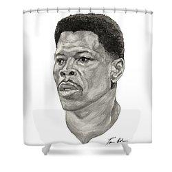 Ewing Shower Curtain by Tamir Barkan