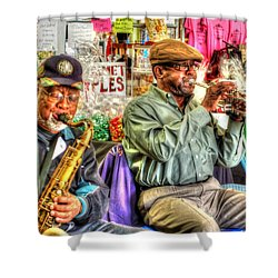 Excelsior Band Horn Players Shower Curtain by Michael Thomas